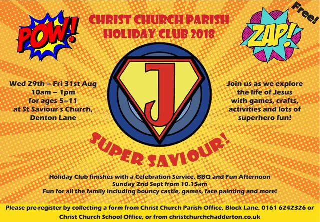 Christ Church Parish Holiday Club 2018 @ St Saviour's