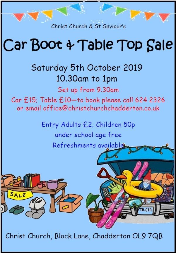 Car Boot Sale @ Christ Church