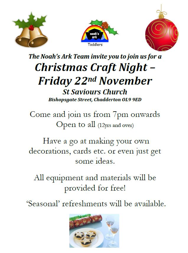 Christmas Craft Night @ St Saviour's